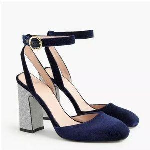 JCrew Harlow Glitter Heels NEW Sz. 10.5